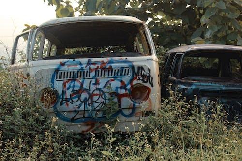 Free stock photo of abandoned, abandoned car, car wrecks