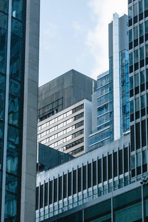 Modern high rise architecture in urban megapolis
