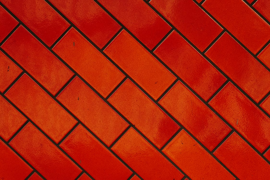 Background of bright red bricks