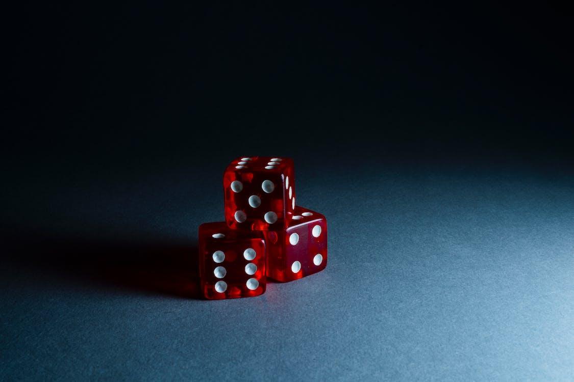 czerwony, gra, kostka do gry