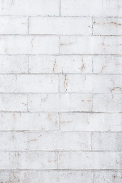 White brick wall in daylight