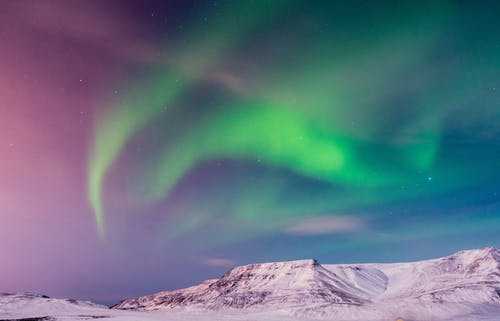 Green Aurora Lights in the Sky