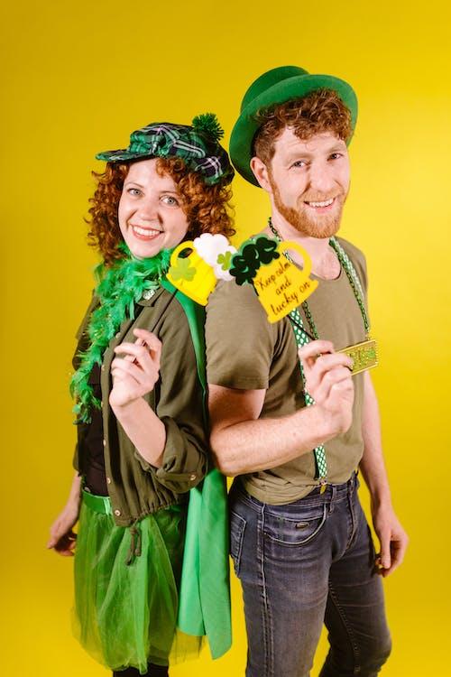A Couple Celebrating St Patrick's Day