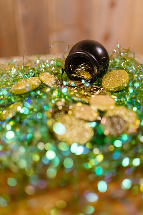 Black and Green Round Ornament