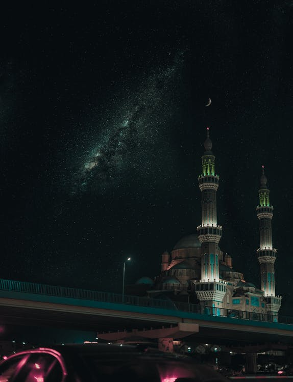Free stock photo of at night, blue mosque, blue sky