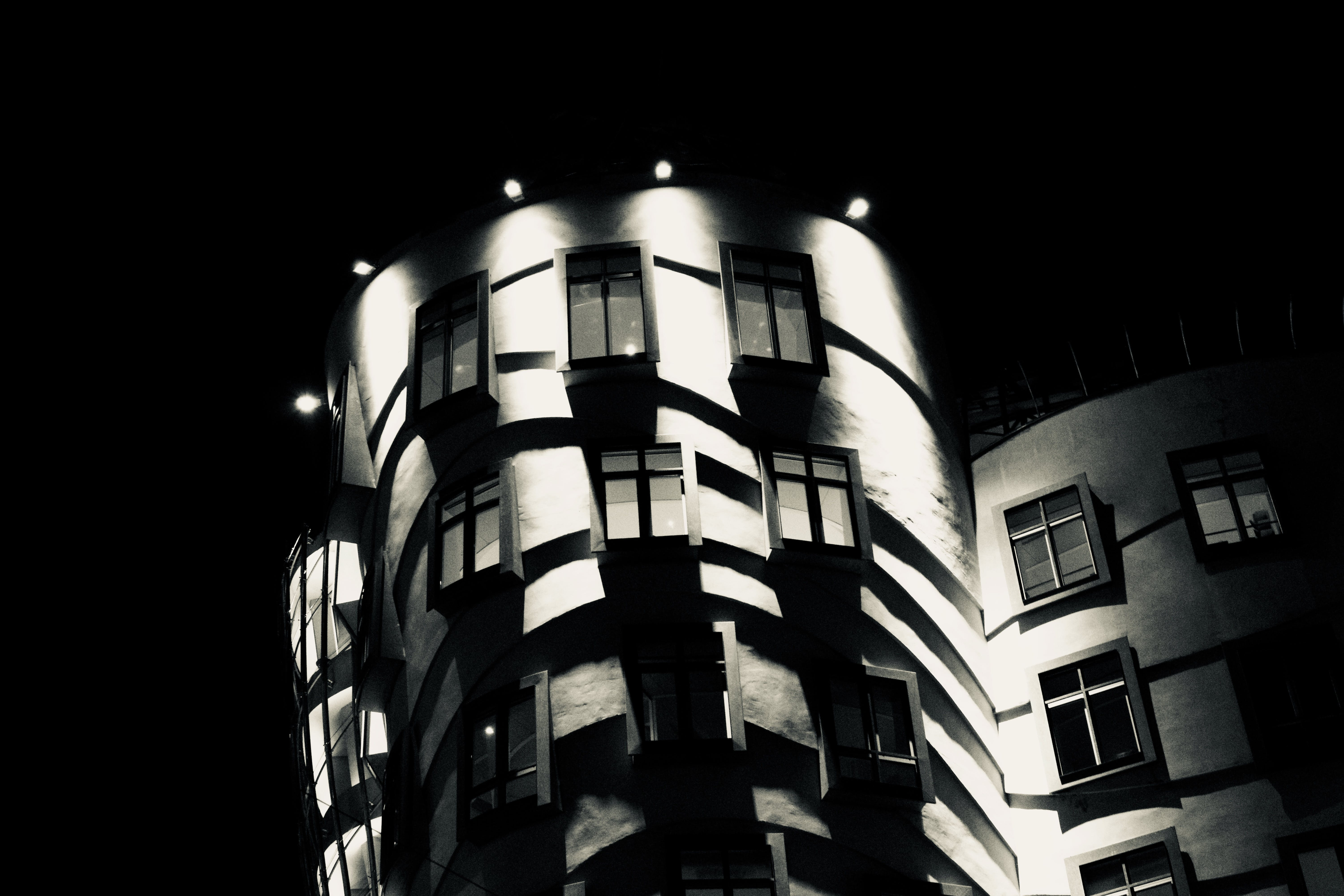 Free stock photo of black, house, prague, the dancing house