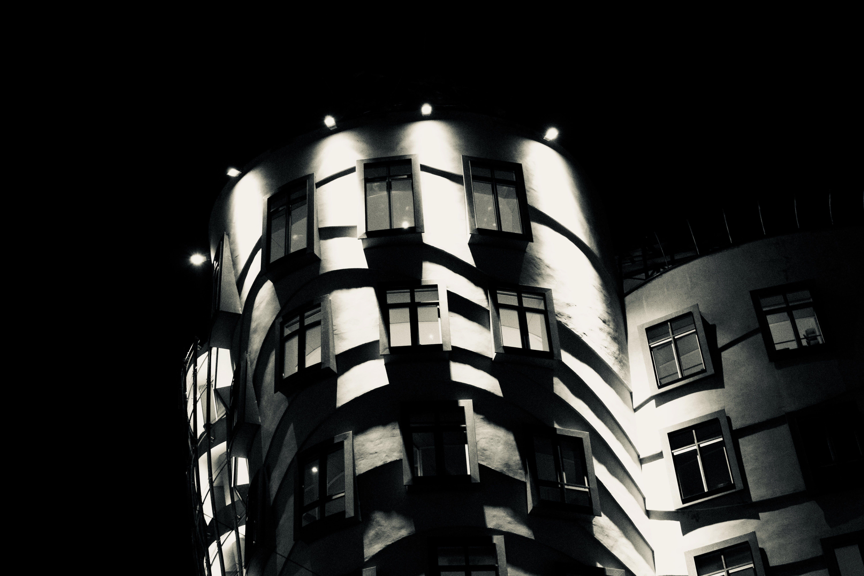 Free stock photo of house, black, prague, town