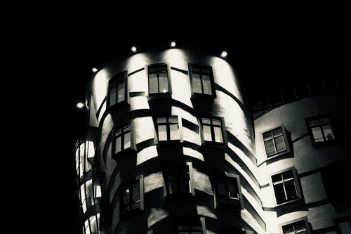 Free stock photo of black, prague, the dancing house, town