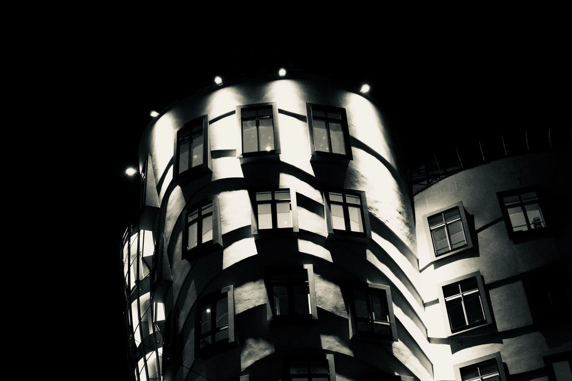 black, prague, the dancing house