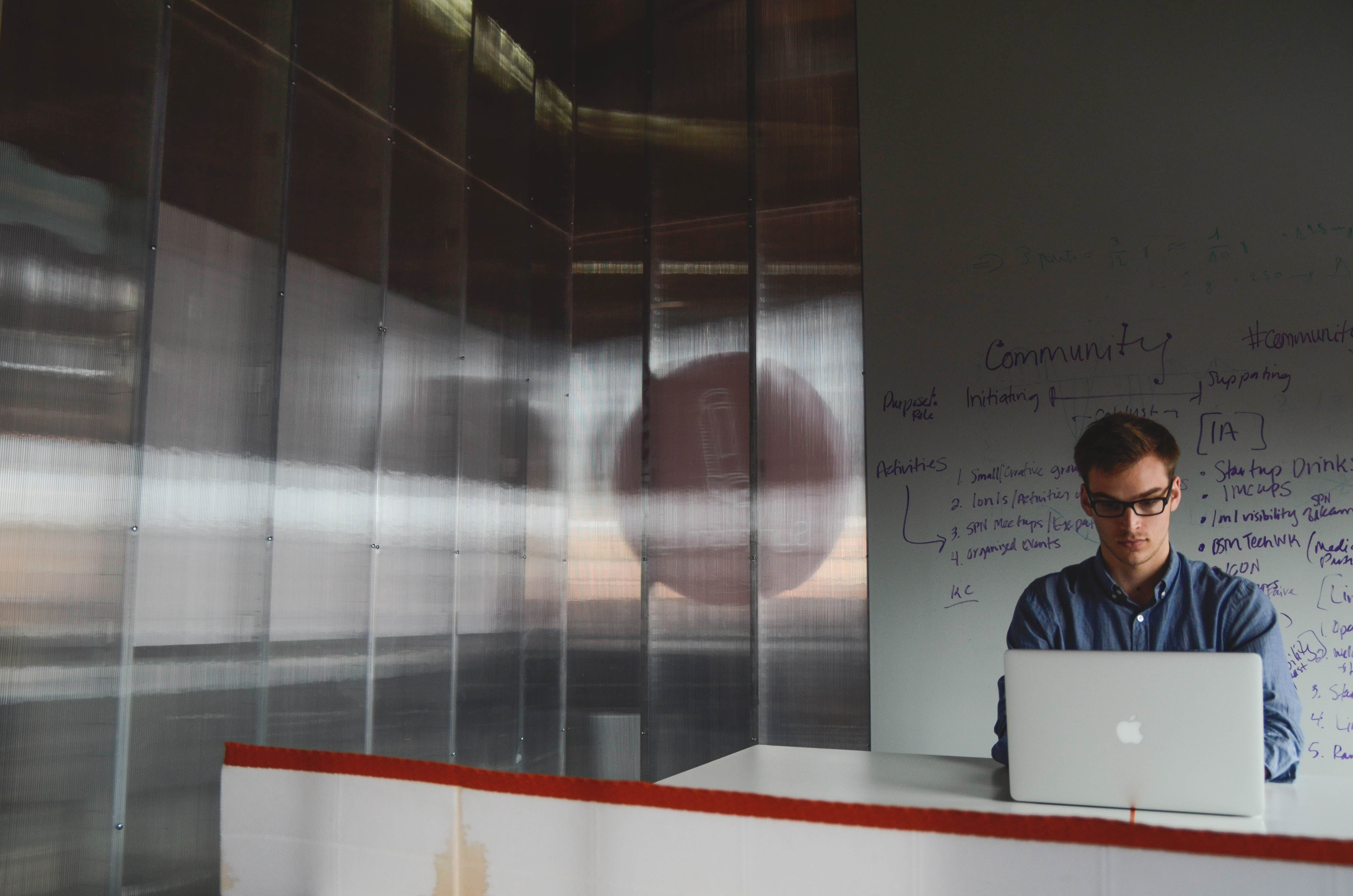 Free stock photo of man, space, office, working