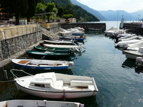 Free stock photo of boats Como lake