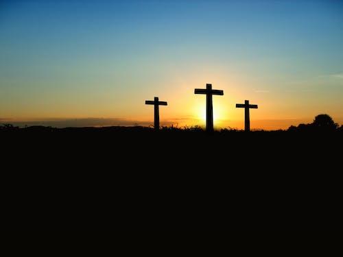 Бесплатное стоковое фото с восход, закат, крест