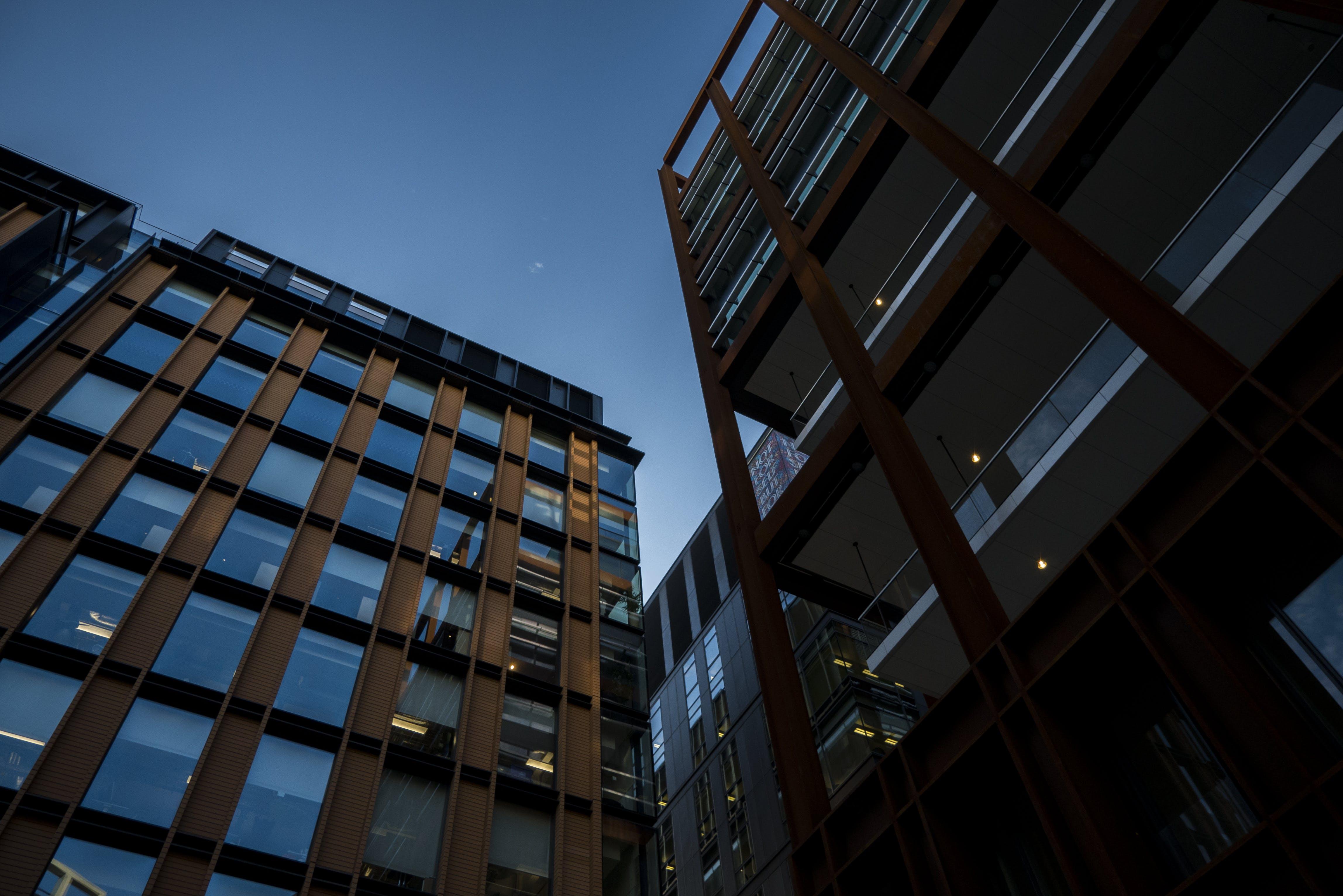 Free stock photo of blue sky, city, cityscape, crystal glass