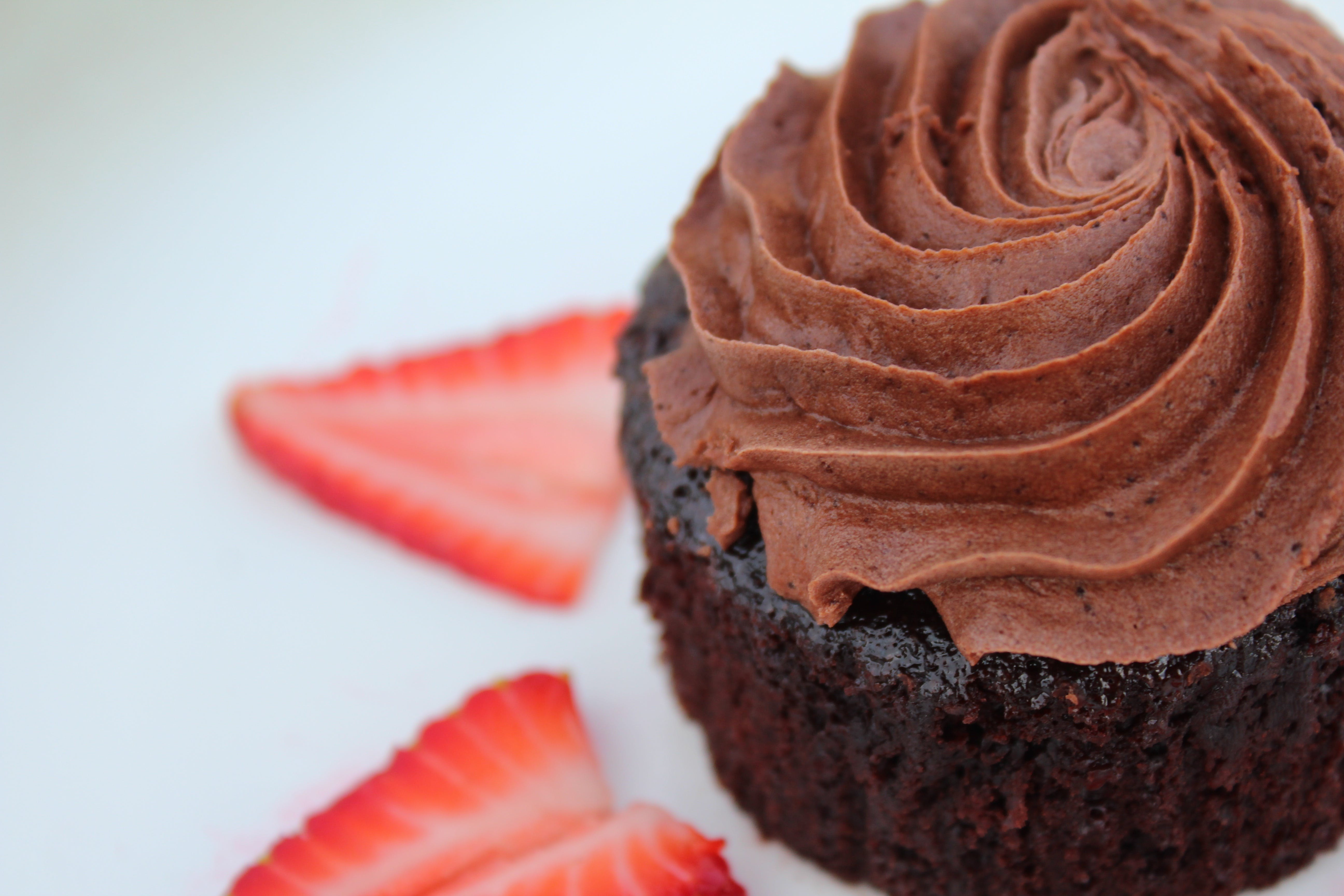 Chocolate Cupcake Macro Photography