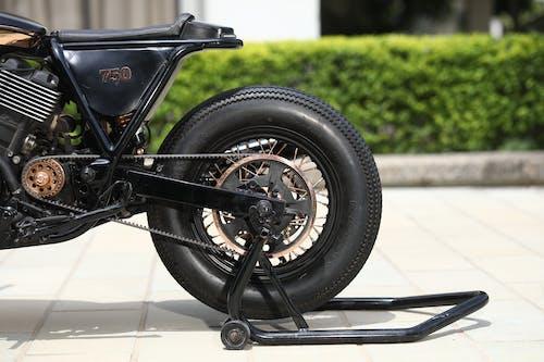 Black Motorcycle Rear Wheel