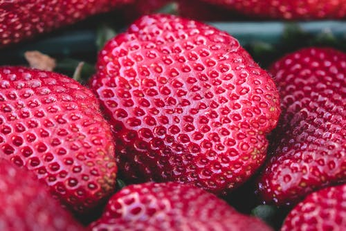 Kostnadsfri bild av hälsosam, jordgubbar, mat, närbild