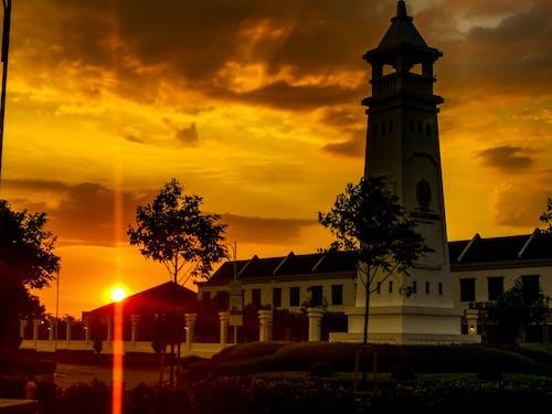 Free stock photo of beautiful sunset, view