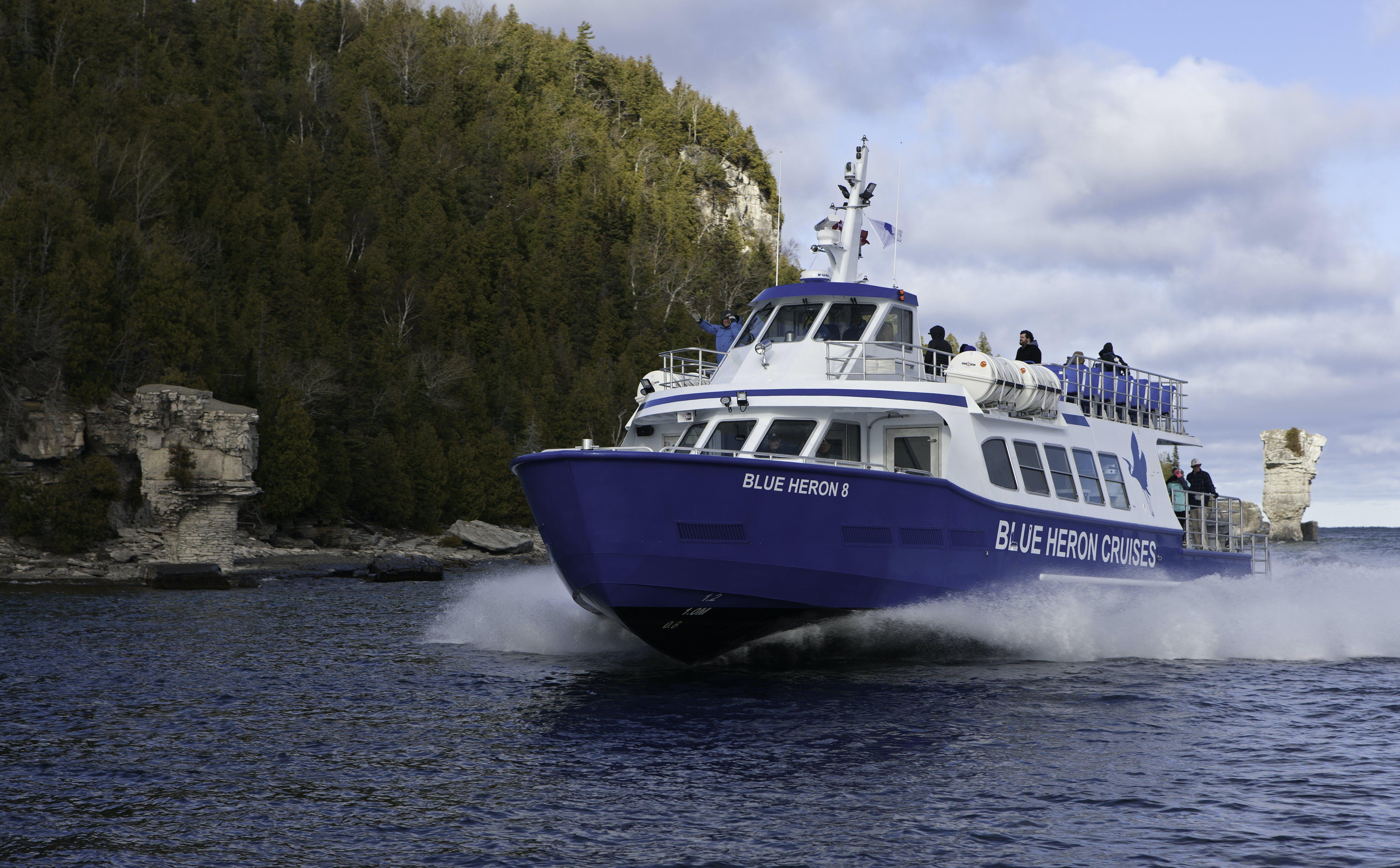 Free stock photo of Blue Heron 8, Blue Heron Cruises, boat, Fathom Five National Marine Park