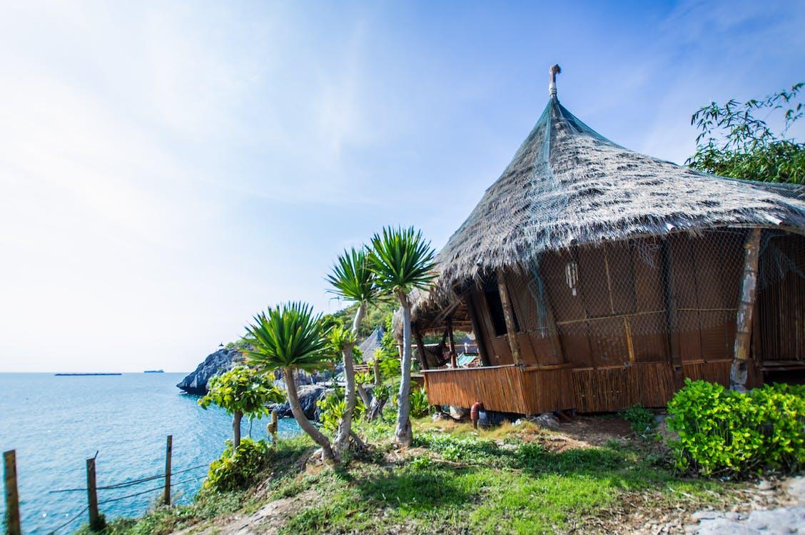 Free stock photo of beach, beach hut, cabin