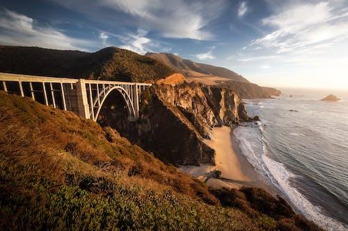 Gray Bridge over the Sea