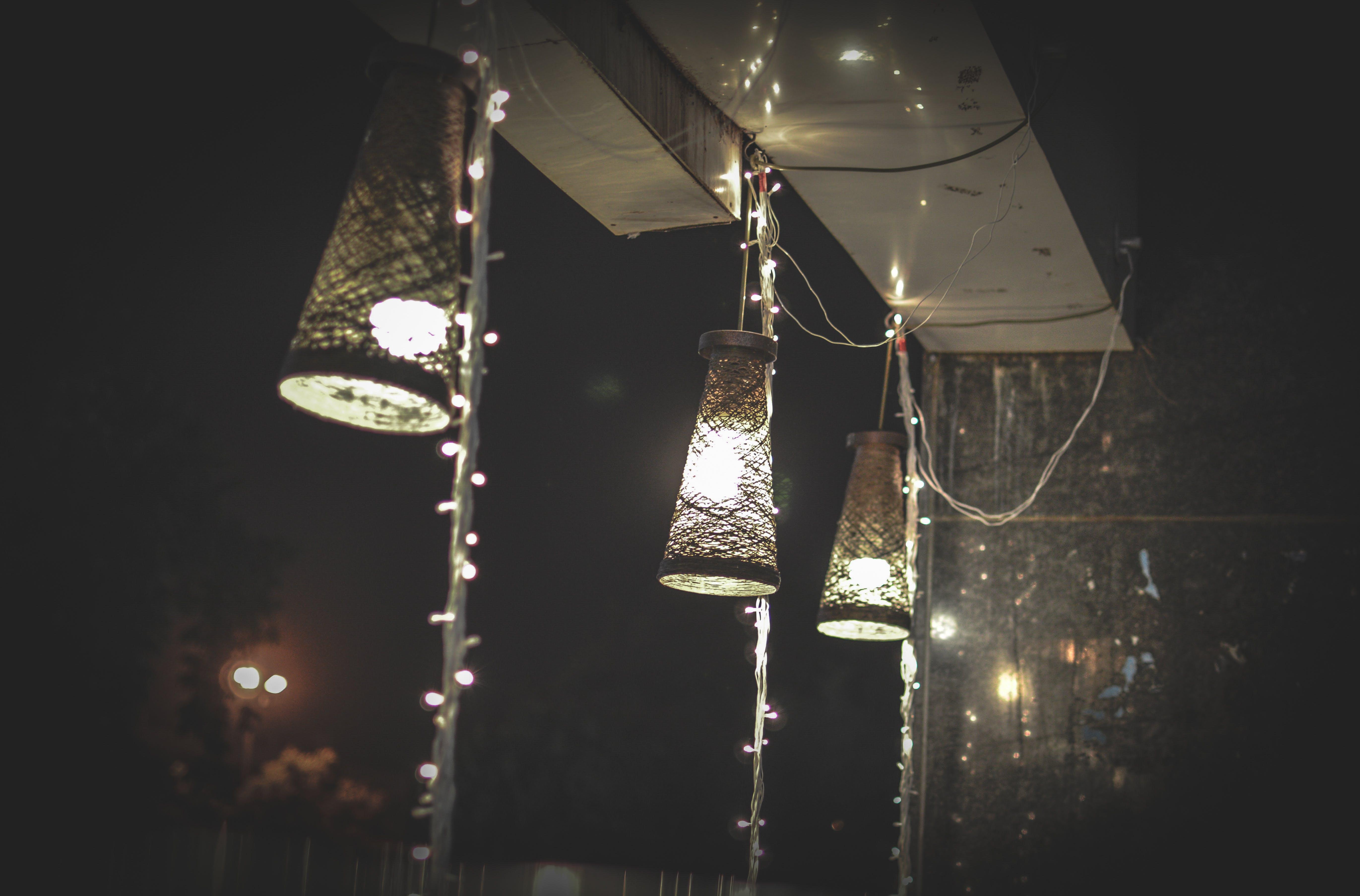 Three Pendant Lamps