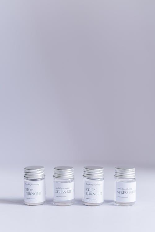 Close-Up Shot of Tiny Jars