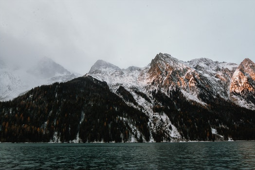 Mountain Beside Body of Water
