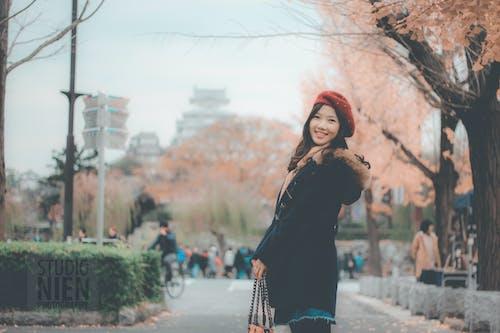 Woman Black Parka Jacket