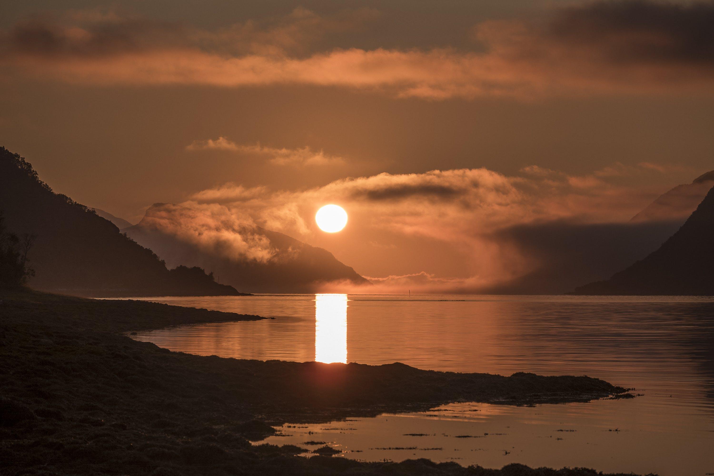 Kostenloses Stock Foto zu abendsonne, arktis, horizont, meer