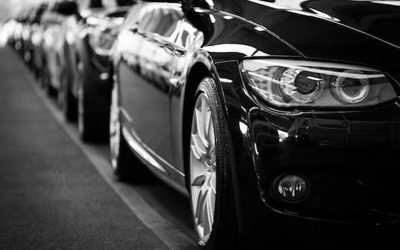 Foto de archivo libre de blanco y negro, coches, vehículos, coche
