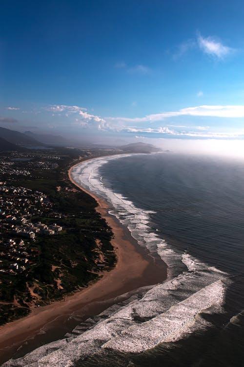 Free stock photo of beach, horizon, mountains