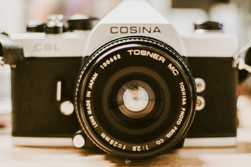 Black and Gray Cosina 35 Mm Film Camera