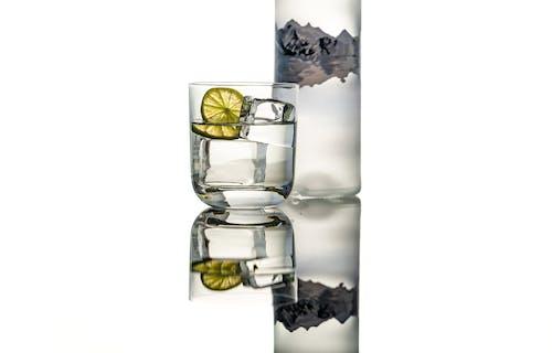 Free stock photo of acrylic ice, bottle, glass