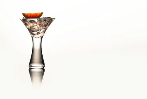 Clear Glass Vase With Brown Liquid