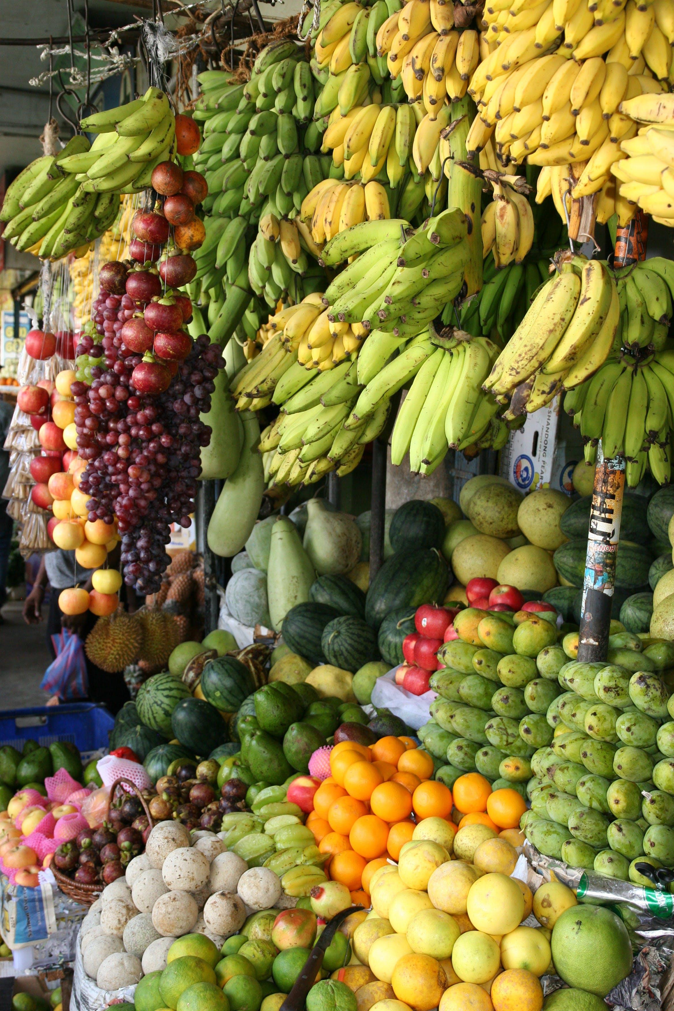 Kostenloses Stock Foto zu ananas, banane, der umsatz, essen