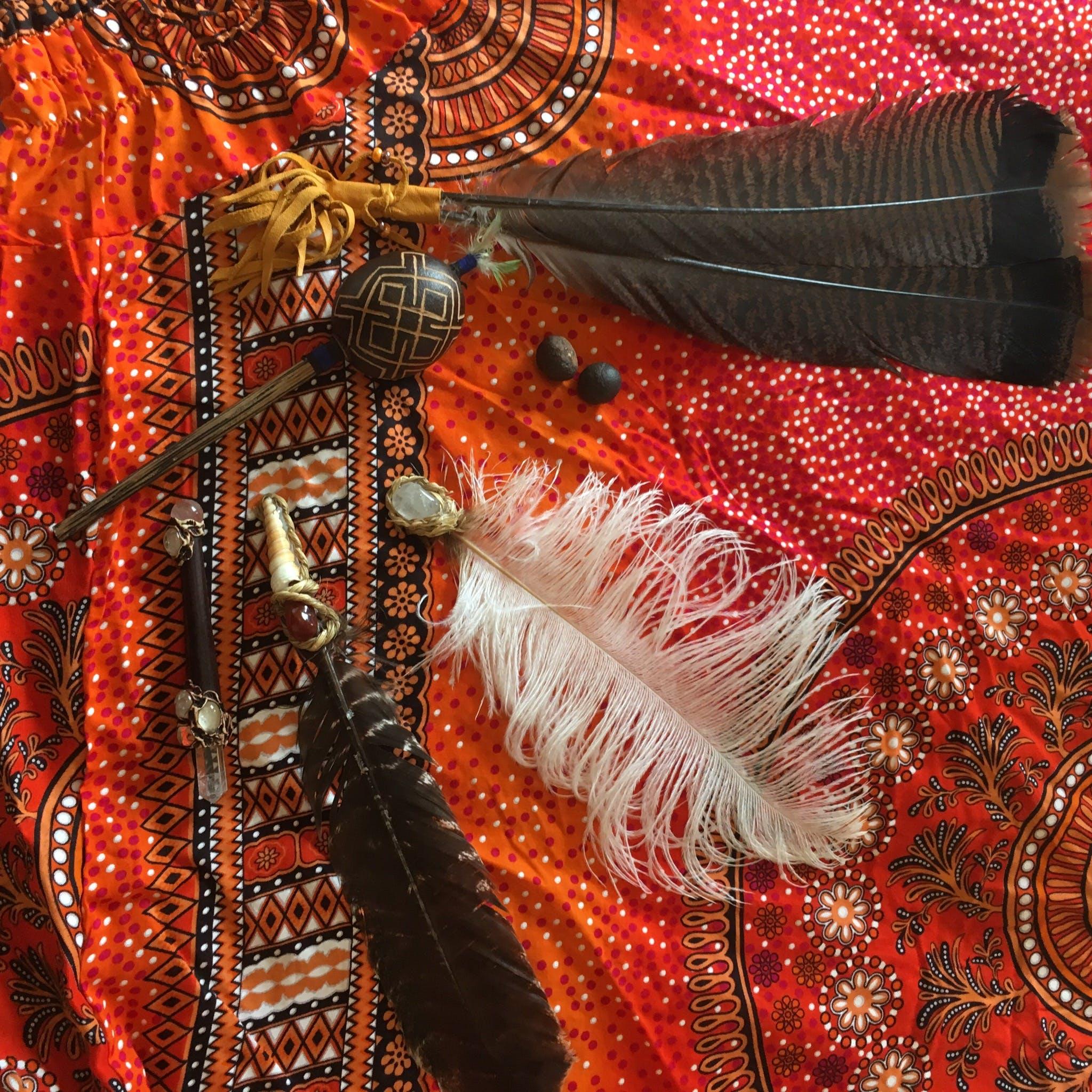 Základová fotografie zdarma na téma pírka, šamanské, shamanic healing