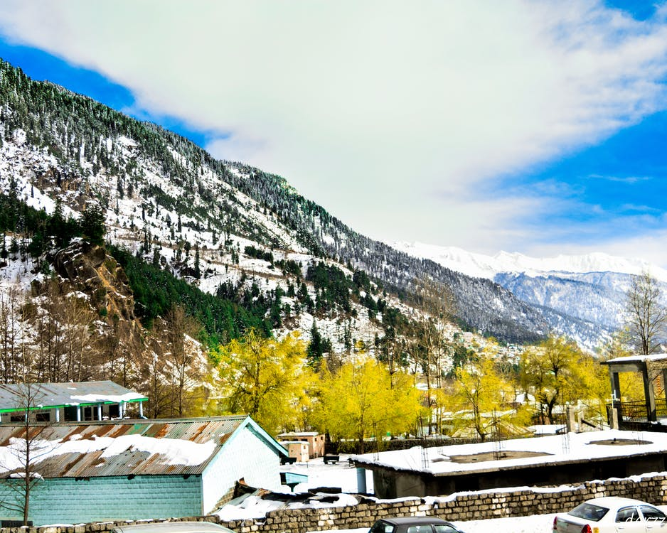 Free stock photo of blue clouds, manali, moutains