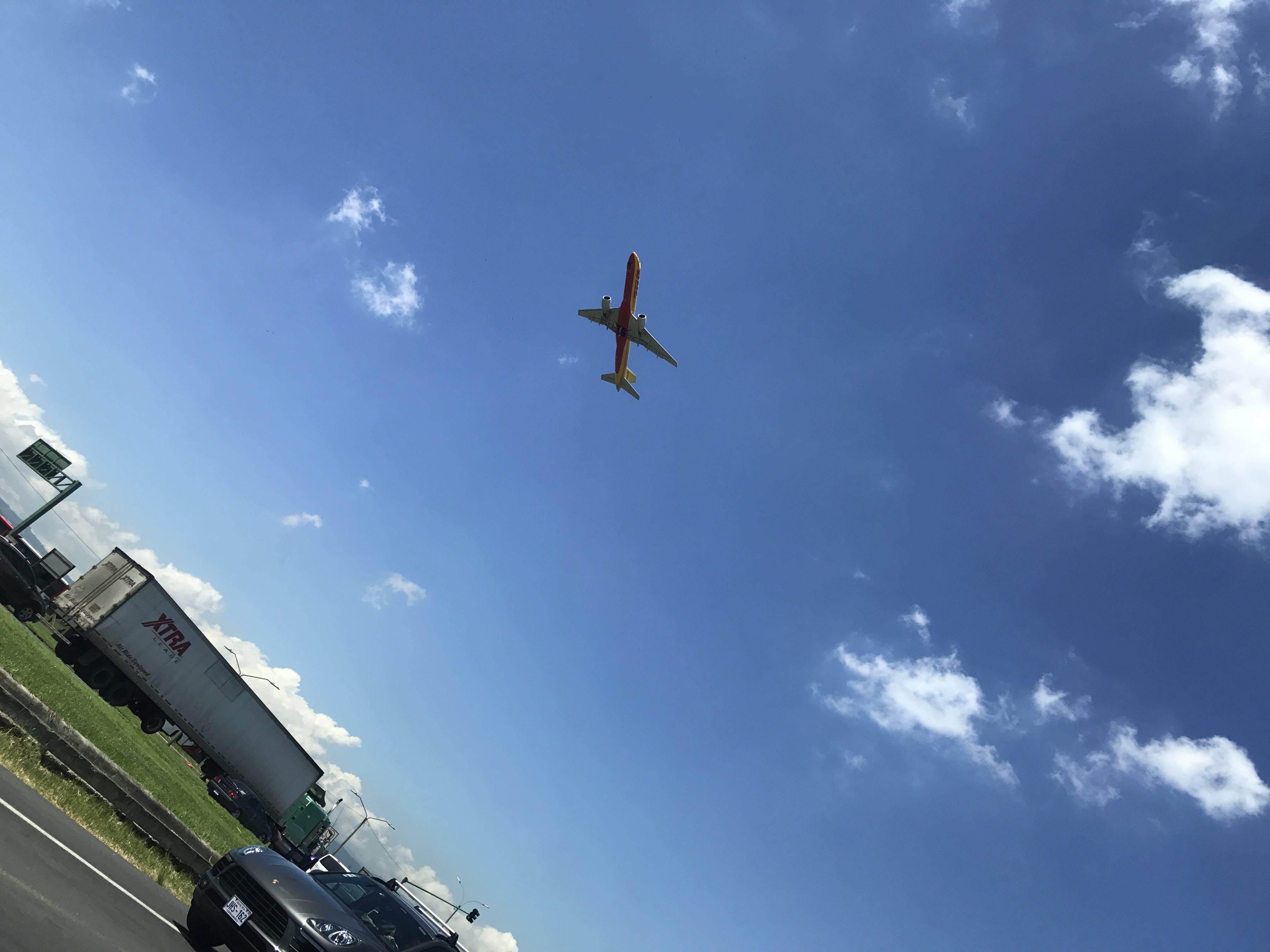 airplane, airport, flight
