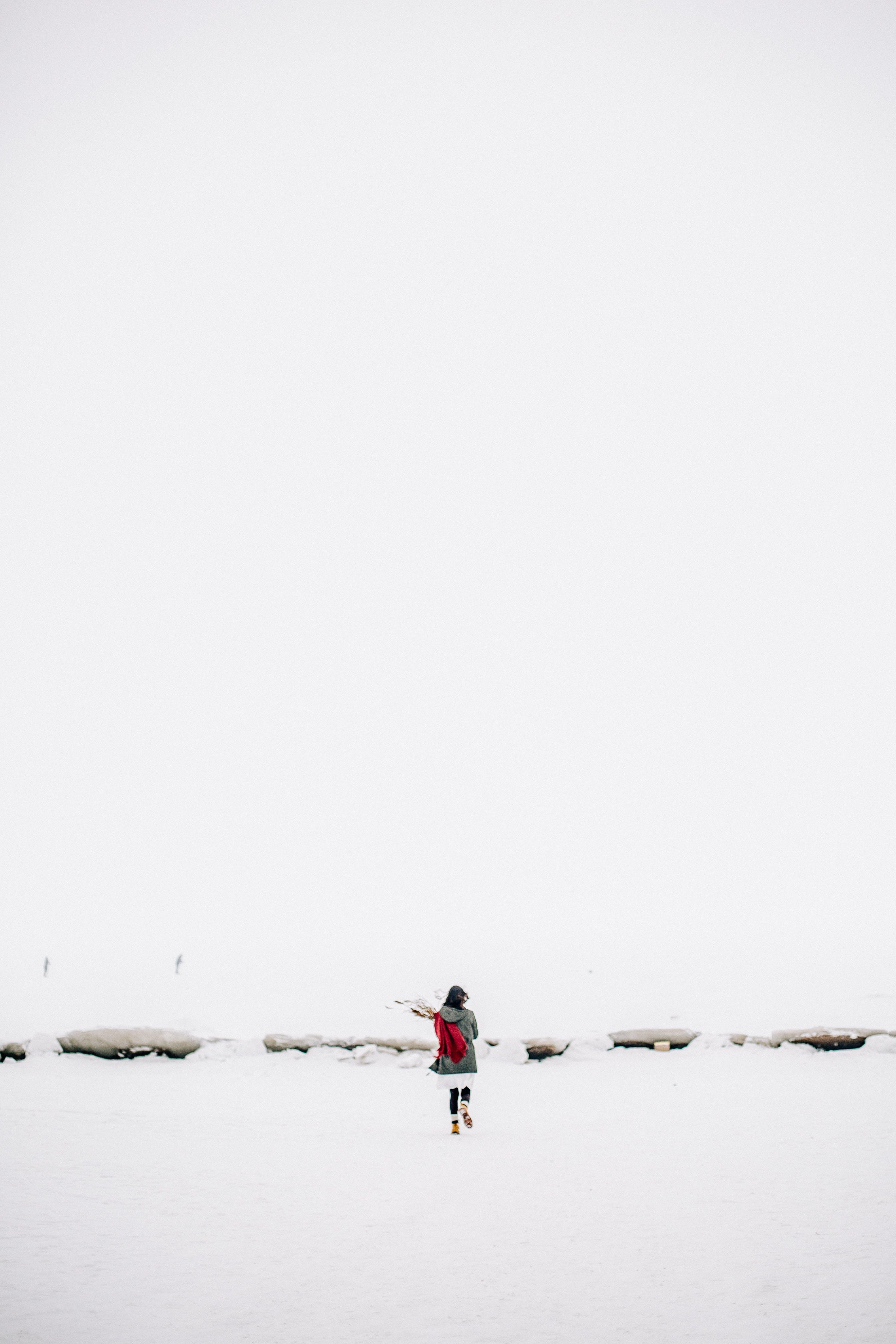 Kostenloses Stock Foto zu kalt, schnee, landschaft, fashion