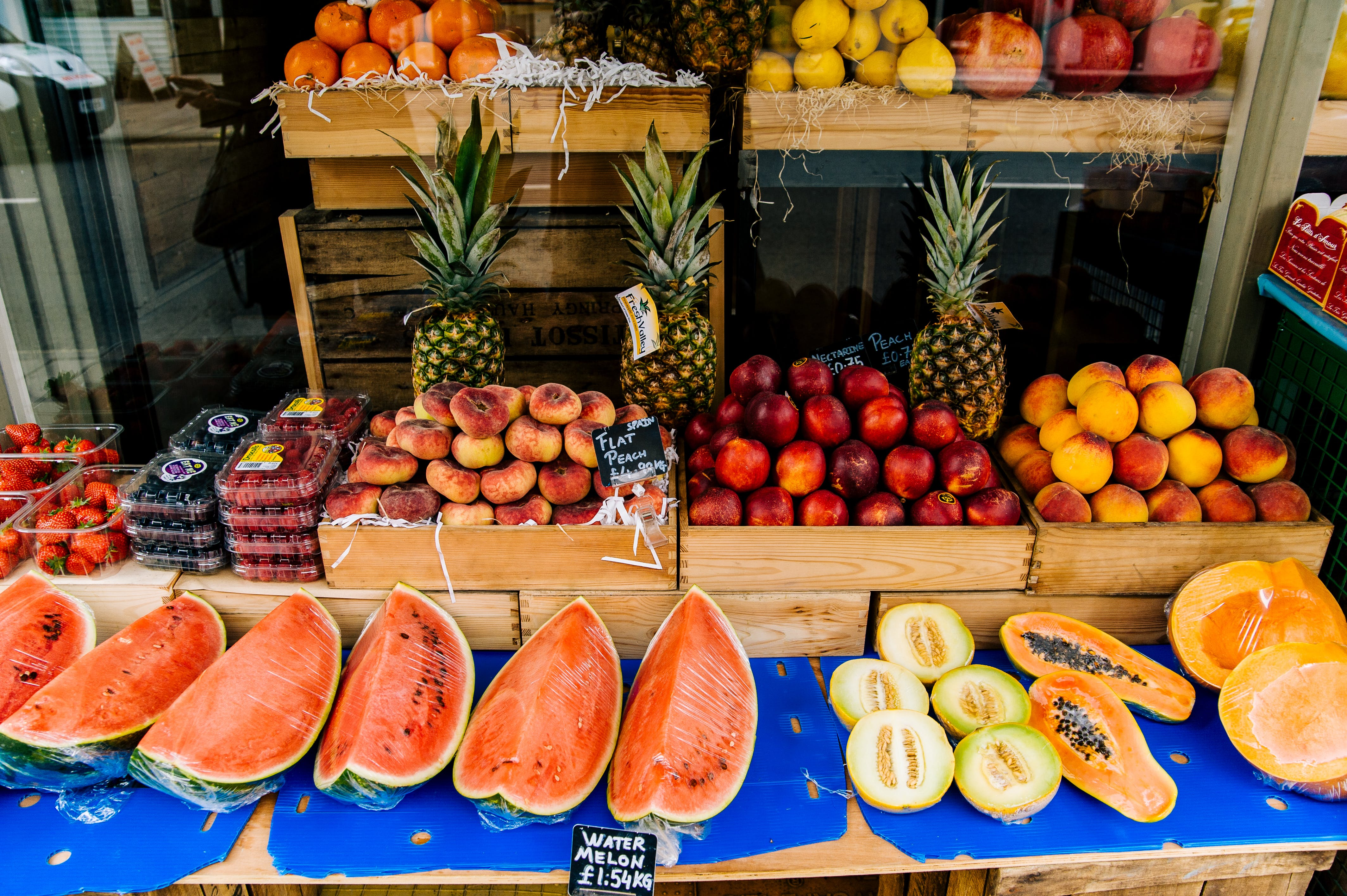 Sliced Fruit Stall