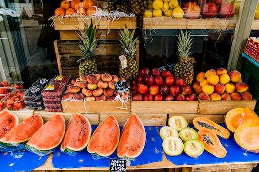 Sliced Fruit Stall
