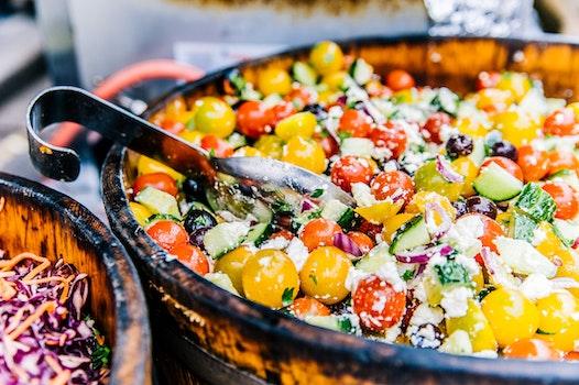Kostenloses Stock Foto zu essen, teller, salat, gesund