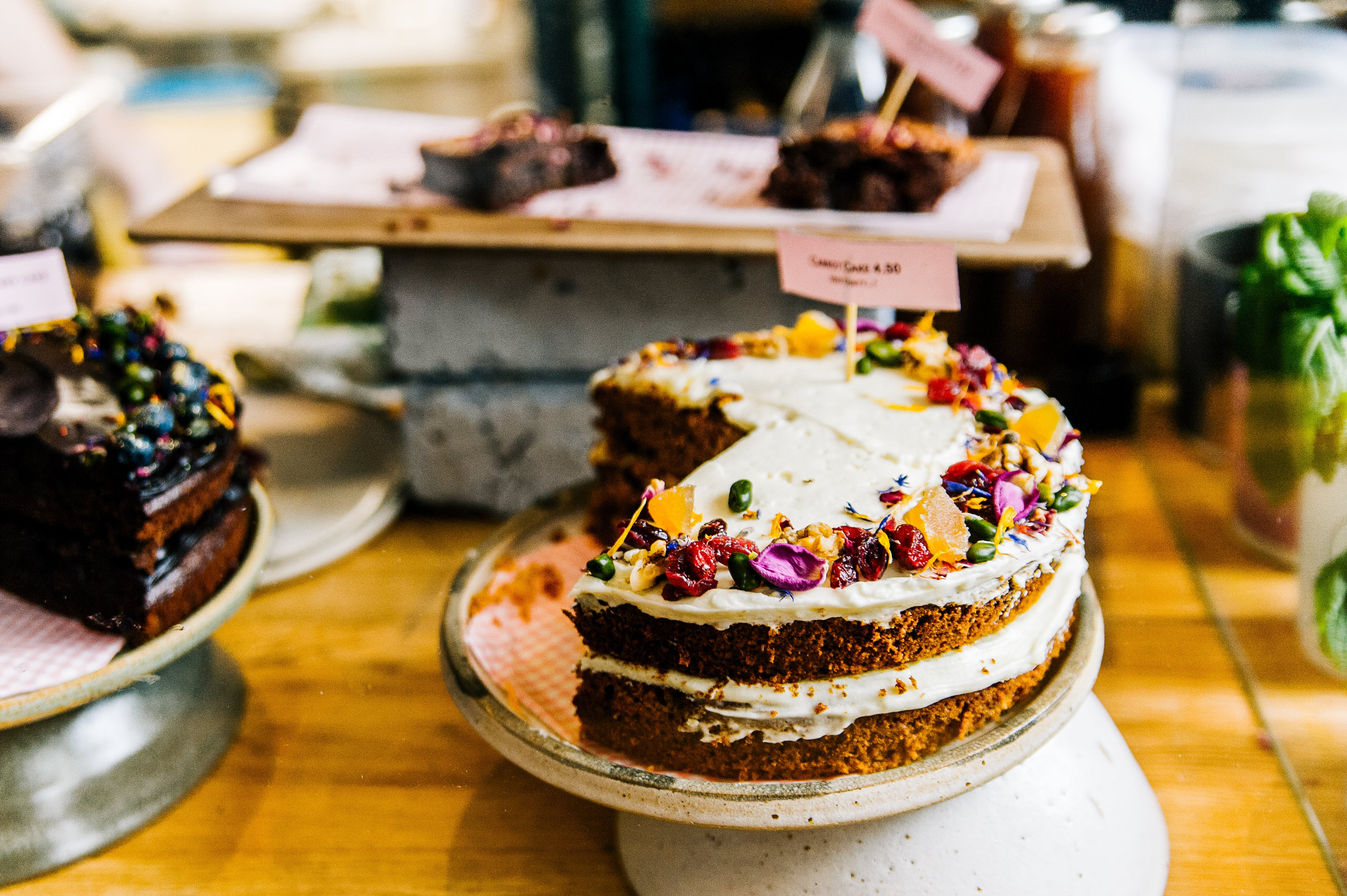 Baked Cake With Candies on Top