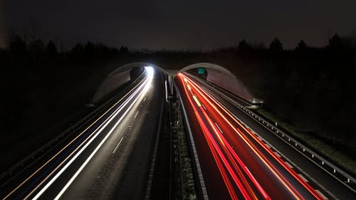 Timelapse Photograph of Highway