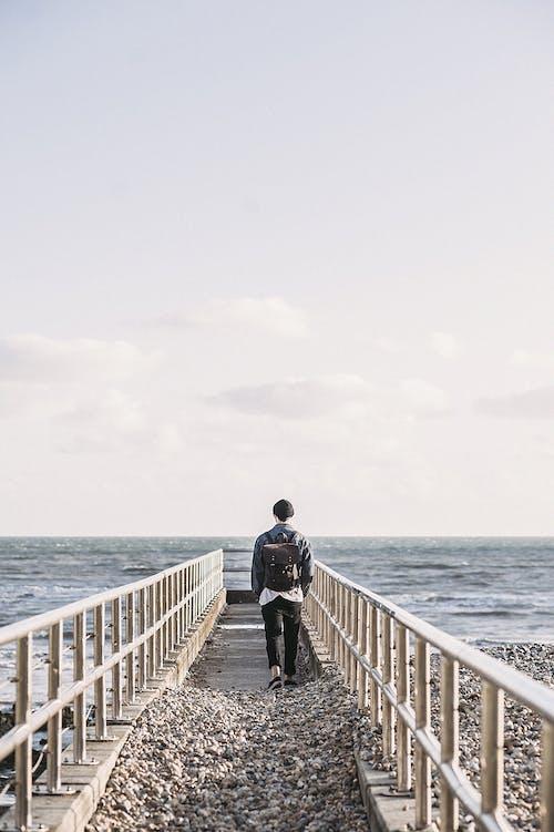 Gratis lagerfoto af bølger, ensomhed, ferie, fritid