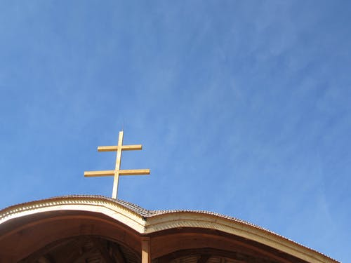 Free stock photo of blue skies, cross