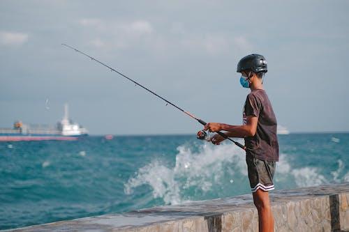 Kostenloses Stock Foto zu angeln, angelrute, boot