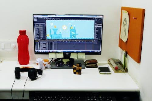Foto d'estoc gratuïta de ampolla d'aigua, Animació, auricular, cartera