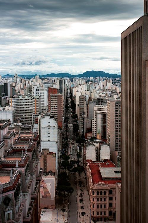 Free stock photo of asphalt, buildings, city