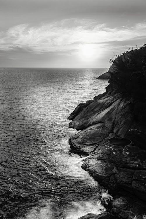 Foto d'estoc gratuïta de a l'aire lliure, Costa, costa rocallosa